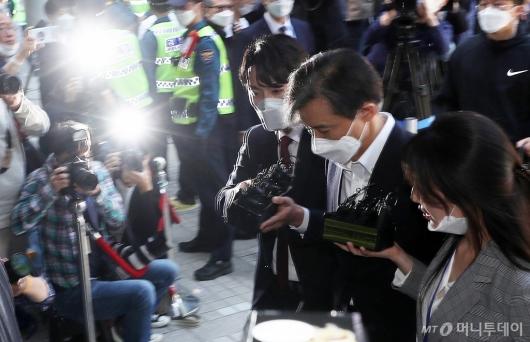 [사진]법정 향하는 조국 전 장관