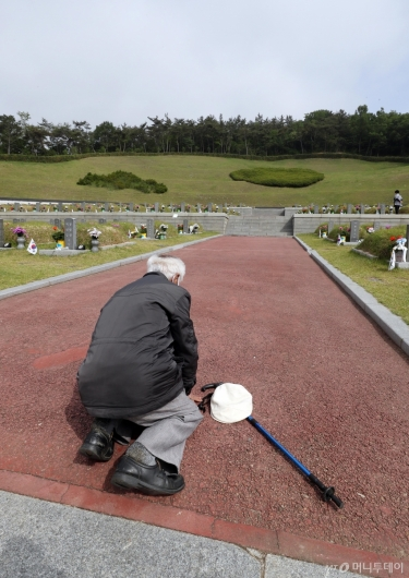 [사진]5·18민주묘지에 큰절