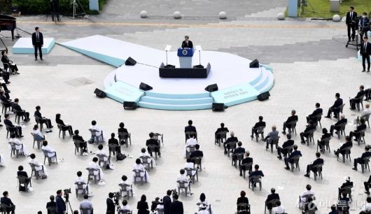 [사진]5·18 민주화운동 기념식 찾은 문 대통령