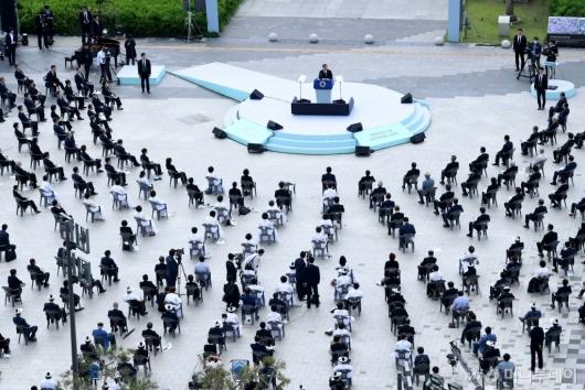 [사진]제40주년 5·18 민주화운동 기념식 참석한 문 대통령