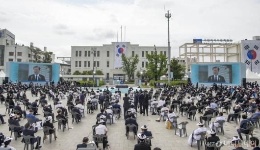 [사진]옛 전남도청 앞에서 열린 제40주년 5·18 기념식