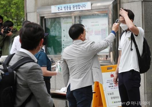 [사진]등교하는 고3 학생들