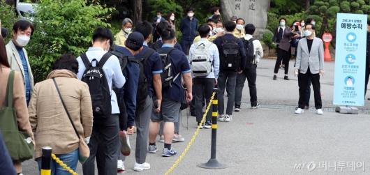 [사진]발열검사 받는 고3 학생들