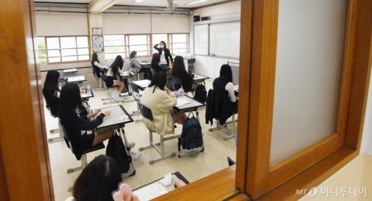 [사진]고3 등교 수업 시작