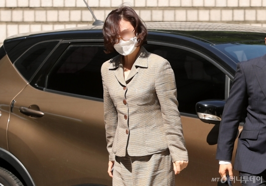 [사진]법원 도착한 정경심 교수