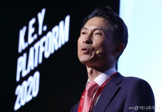 [사진]'2020 키플랫폼' 개회사 전하는 박종면 대표