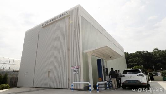 [사진]본격 운영 시작된 H강동 수소충전소