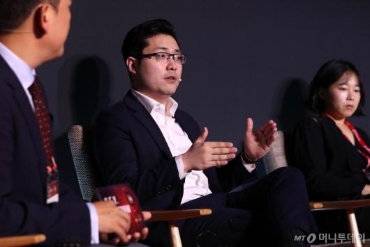 [사진]'2020 키플랫폼' 패널토론 발언하는 팀황 대표