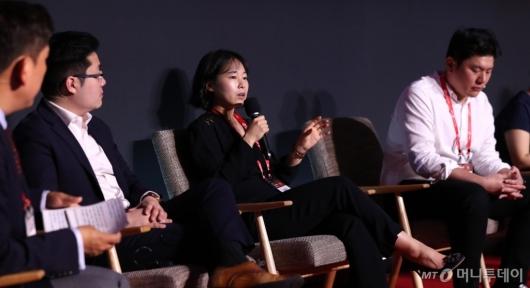 [사진]'2020 키플랫폼' 패널토론 발언하는 강윤모 대표