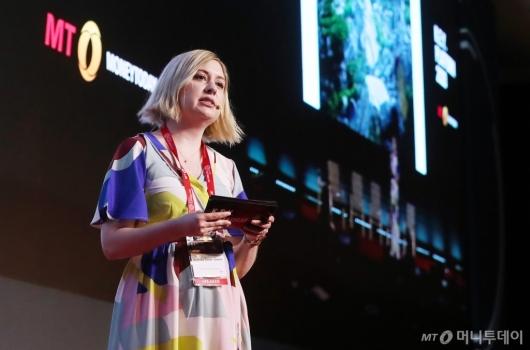 [사진]니콜라 권, 2020 키플랫폼 주제 발표