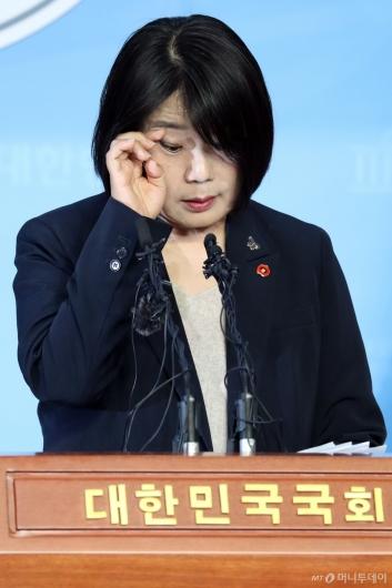 """[사진]윤미향 """"개인계좌 모금 허술한 부분 인정"""""""