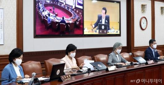 [사진]정세균 총리, 국무회의 주재