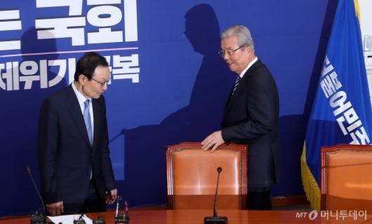 [사진]김종인, 이해찬 대표 예방
