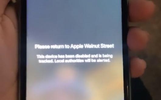 훔친 아이폰에 \