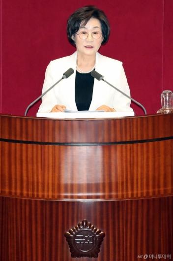 [사진]소감 밝히는 김상희 국회 부의장
