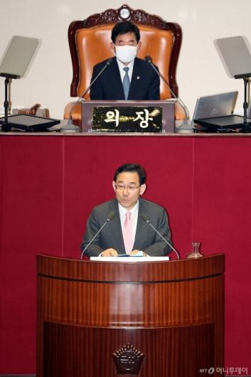[사진]발언하는 주호영 원내대표