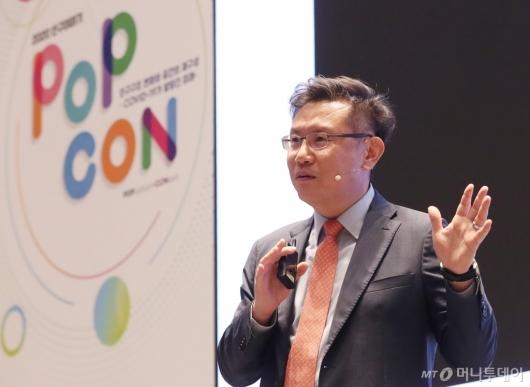 [사진]'2020 인구이야기 팝콘' 발표하는 구성기 상무