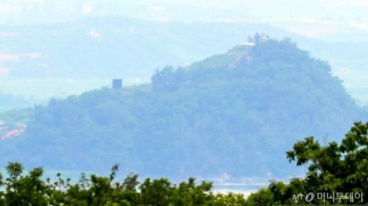 [사진]북한, 대남 확성기 재설치