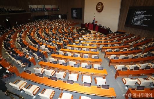 [사진]미래통합당 불참 속 열린 본회의