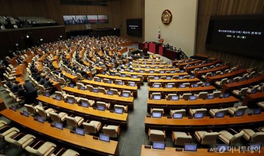 [사진]미래통합당 불참 속 본회의