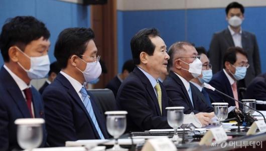 [사진]정세균 총리, 수소경제위원회 모두발언