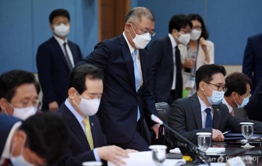 [사진]제1차 수소경제위원회 참석하는 정의선 부회장