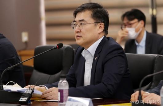 [사진]간담회 주재하는 손병두 금융위 부위원장
