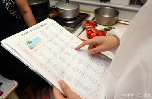 [사진]'식중독 예방' 식단표 확인하는 서울시 관계자