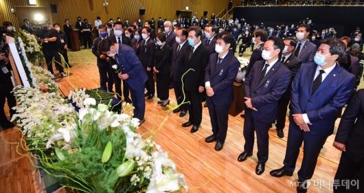 [사진]故박원순 시장 영결식 참석한 민주당