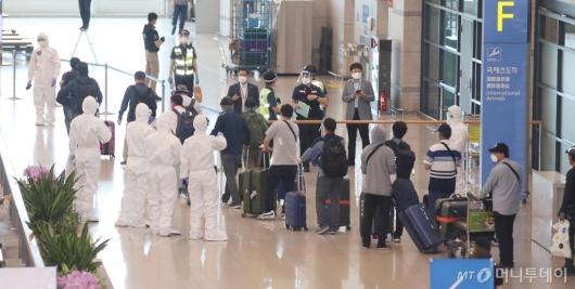[사진]입국하는 이라크 파견 근로자들