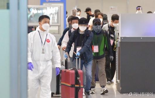 [사진]귀국하는 이라크 파견 근로자들