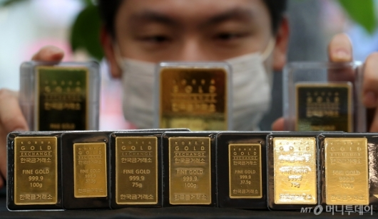 [사진]금값, 연일 상승