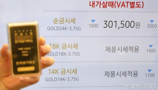 [사진]'금값 상승세 주춤?'