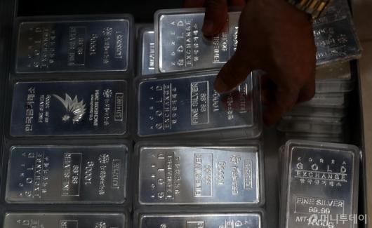 [사진]금값 상승세에 은값도 상승