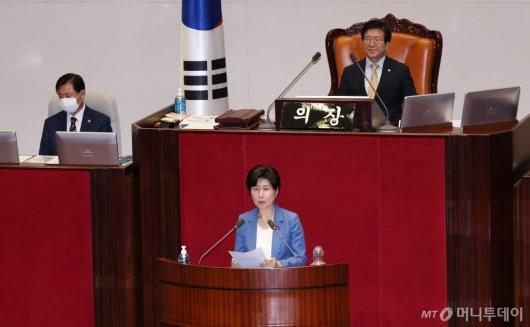 [사진]임대차보호법 제안설명하는 백혜련 의원