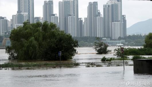 [사진]집중호우에 불어난 한강
