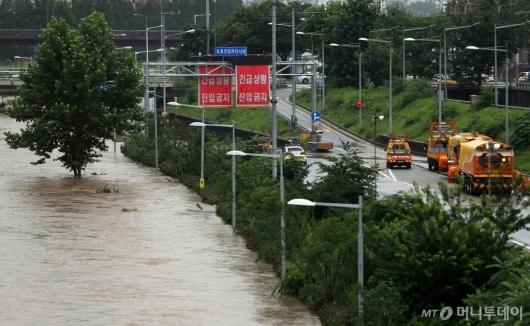 [사진]진입 금지된 동부간선도로
