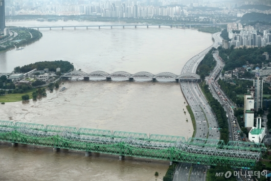 [사진]수위 높아진 한강