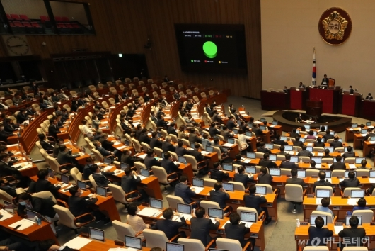 [사진]소득세법 일부개정법률안 본회의 통과