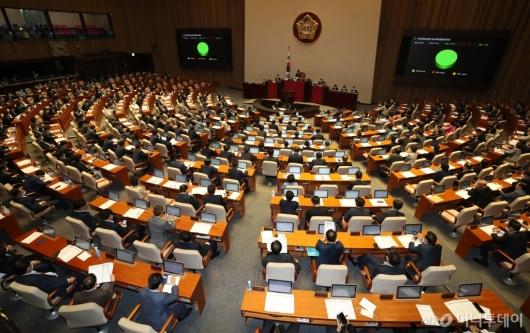[사진]'최숙현법' 국회 본회의 통과