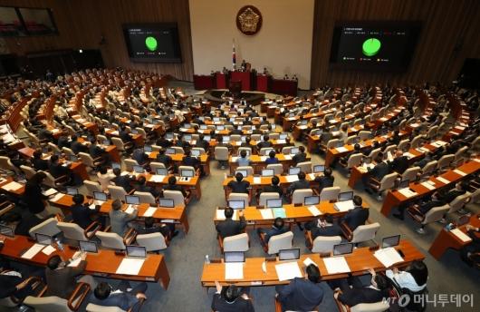 [사진]국회법 일부개정법률안 본회의 통과