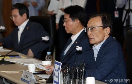 [사진]이해찬 대표, 뉴딜펀드 정책간담회 모두발언