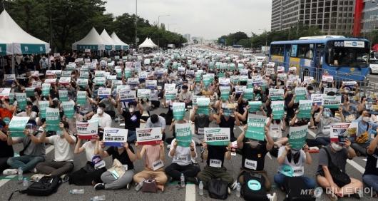 [사진]파업 돌입한 전공의들
