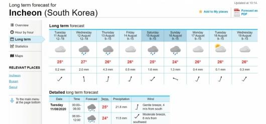 한국은 못믿어…노르웨이 예보 보는 '기상망명족'