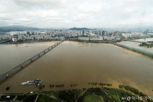 [사진]불어난 한강