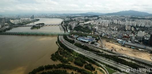[사진]수위 높은 한강