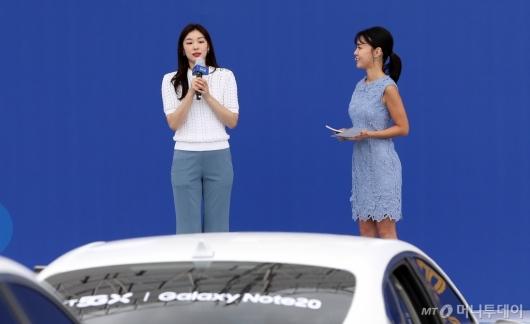 [사진]'갤럭시노트20' 개통식 찾은 김연아