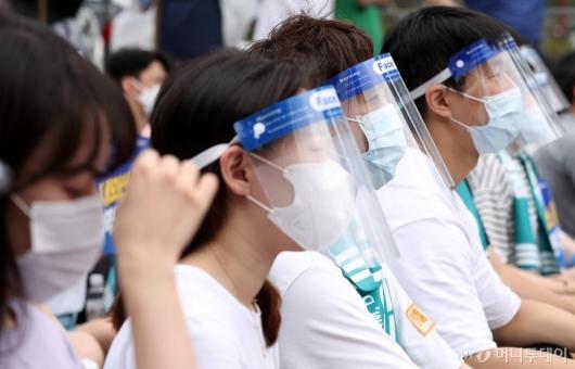 [사진]의협, 전국 의사 총파업 궐기대회