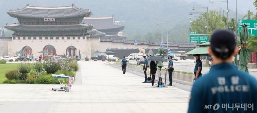 [사진]오늘부터 서울 10인 이상 집회 금지