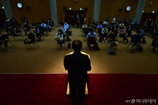 [사진]구본환 사장, 정부의 해임 추진에 대한 기자회견